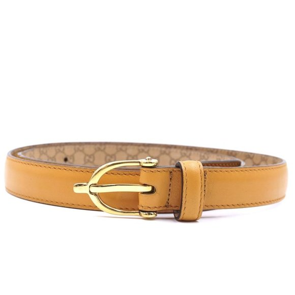 """Gucci Gold Marmont Buckle 1"""" Wide Size 90 36 Belt"""